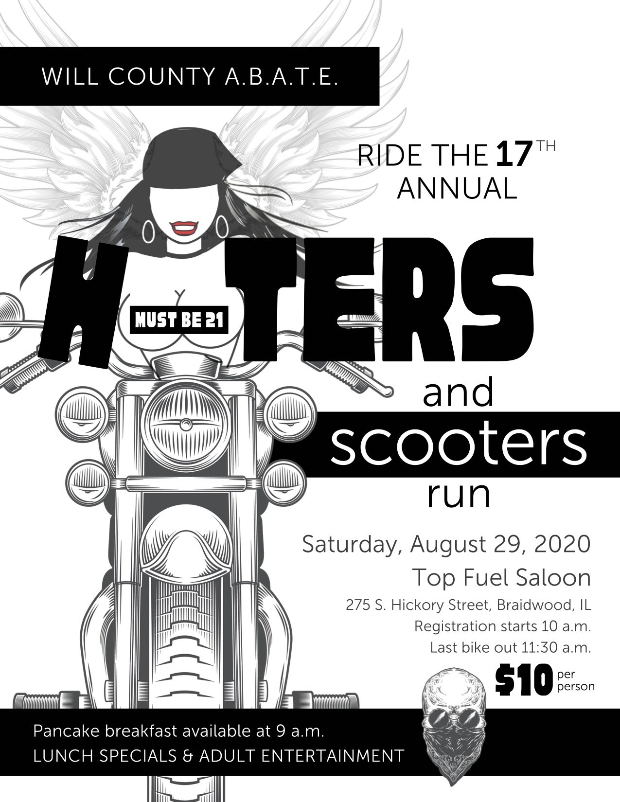 Hooters and Scooter Run